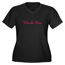 Whoodle Mom Women's Plus Size V-Neck Dark T-Shirt