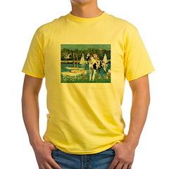Sailboats / Gr Dane (h) Yellow T-Shirt