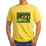 Sailboats / Gr Dane (h) Yellow T-Shirt
