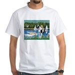 Sailboats / Gr Dane (h) White T-Shirt