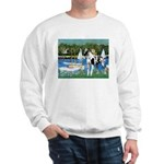 Sailboats / Gr Dane (h) Sweatshirt