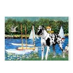 Sailboats / Gr Dane (h) Postcards (Package of 8)
