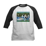 Sailboats / Gr Dane (h) Kids Baseball Jersey