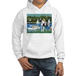 Sailboats / Gr Dane (h) Hooded Sweatshirt