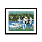 Sailboats / Gr Dane (h) Framed Panel Print