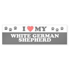 WHITE GERMAN SHEPHERD Bumper Bumper Sticker