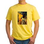Cafe / Gr Dane (h) Yellow T-Shirt