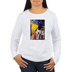Cafe / Gr Dane (h) Women's Long Sleeve T-Shirt