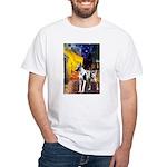 Cafe / Gr Dane (h) White T-Shirt