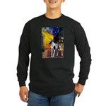 Cafe / Gr Dane (h) Long Sleeve Dark T-Shirt
