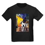 Cafe / Gr Dane (h) Kids Dark T-Shirt