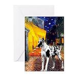 Cafe / Gr Dane (h) Greeting Cards (Pk of 10)