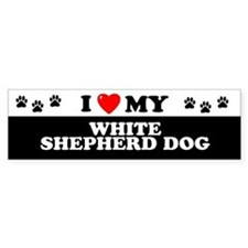 WHITE SHEPHERD DOG Bumper Bumper Sticker
