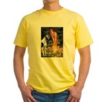 Fairies / Gr Dane (h) Yellow T-Shirt