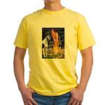 Fairies / Gr Dane (h) Yellow T-Shirt