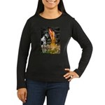 Fairies / Gr Dane (h) Women's Long Sleeve Dark T-S