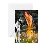 Fairies / Gr Dane (h) Greeting Card