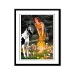Fairies / Gr Dane (h) Framed Panel Print