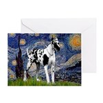 Starry / Gr Dane (h) Greeting Card