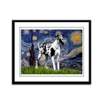 Starry / Gr Dane (h) Framed Panel Print