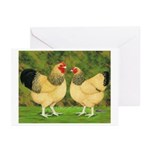 Wyandotte Rooster and Hen Greeting Cards (Pk of 10