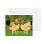 Wyandotte Rooster and Hen Greeting Card