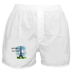 """We'll always have Paris"" Boxer Shorts"