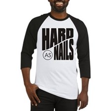Hard as Nails Black Baseball Jersey