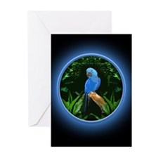 Blue Parrot Greeting Card Greeting Cards