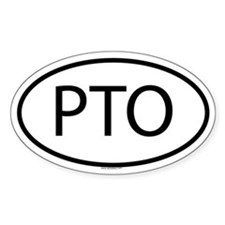 PTO Oval Decal