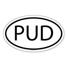 PUD Oval Decal