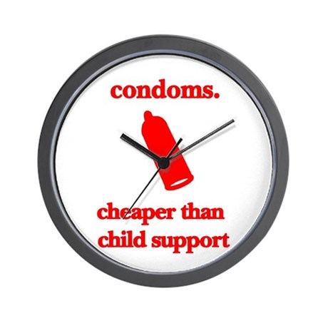 Condoms, cheaper than child s Wall Clock