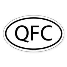 QFC Oval Decal