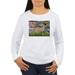 Lilies / Gr Dane (f) Women's Long Sleeve T-Shirt