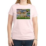 Lilies / Gr Dane (f) Women's Light T-Shirt