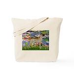 Lilies / Gr Dane (f) Tote Bag