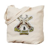 hunt sleep eat repeat Tote Bag