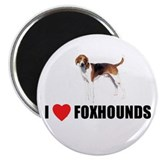 I Love Foxhounds Magnet