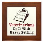 Funny Veterinary Veterinarian Framed Tile