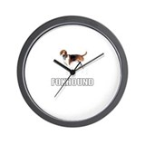 Foxhound Wall Clock