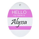 Alyssa Keepsake (Oval)