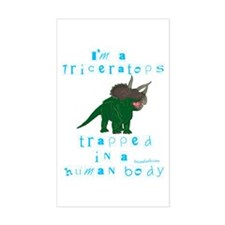 I'm a Triceratops Rectangle Decal