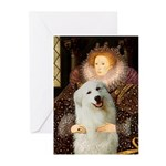 Queen / Gr Pyrenees #3 Greeting Cards (Pk of 20)