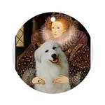 Queen / Gr Pyrenees #3 Ornament (Round)