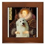 Queen / Gr Pyrenees #3 Framed Tile