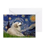 Starry / Gr Pyrenees Greeting Cards (Pk of 10)