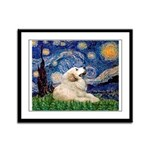 Starry / Gr Pyrenees Framed Panel Print