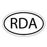 RDA Oval Decal
