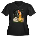 Fairies / Gr Pyrenees Women's Plus Size V-Neck Dar