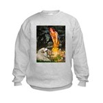 Fairies / Gr Pyrenees Kids Sweatshirt
